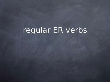 Verb conjugation - lesson