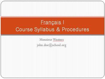 French 1 Course Syllabus