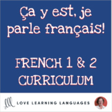 French 1 grammar, vocabulary, task cards, games and activities GROWING BUNDLE
