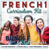 French 1 Curriculum with Comprehensible Input Bundle