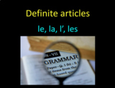 French 1 Definite Articles