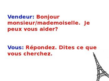 French 1 Dialogue: À la boutique