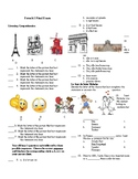French 1 Final Exam (comprehensive)