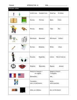 French 1 - Introduction Unit with power points, worksheets, quizzes, test