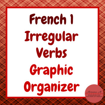 French 1 - Irregular Verb Graphic Organizer