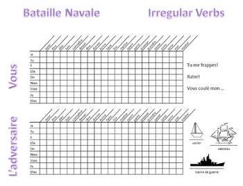 French 1 Irregular Verbs Battleship