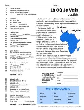 French 1 Nous Sommes Unit 05: Le Tour de France