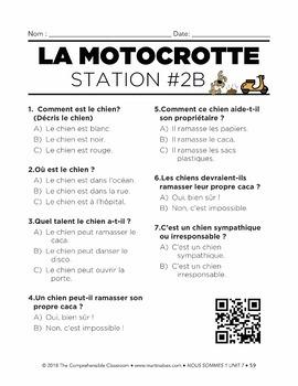 French 1 Nous sommes 1 Unit 07: La Motocrotte