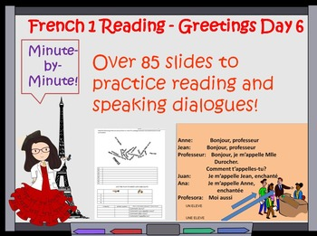 French 1 Reading and Greetings Lesson - Day 6