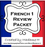 French 1 Review Packet