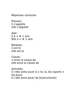 French 1 Speaking assessment review paper