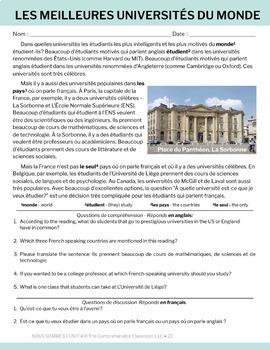 French 1 Nous sommes Unit 04: L'Université