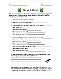 French 1 Travel Project Webquest  (2 pages, English) Using