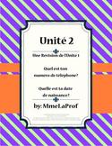 French 1, Unit 2, C'est Moi!  (2nd of 5 units)
