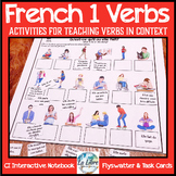 French 1 Present Tense Verb Activities and Interactive Notebook