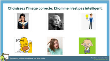 French 1 adjectives presentation *with Pear Deck*
