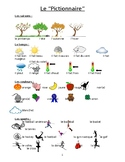 French 1 and 2 Basic Vocabulary Picture Dictionary