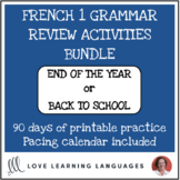 French 1 grammar review activities - BUNDLE