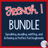 French 1 grammar and vocabulary, speaking activities, game