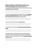 French 1 worksheet with Cote d'Ivoire culture and the pron