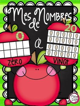 French 10-Frame & 20-Frame Number Cards