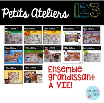 French 123 centers Growing BUNDLE/ Centres de numératie (ensemble grandissant)