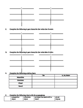 French 1B Review Packet