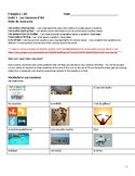 Les Vacances Vocabulary Resource Packet & Slides