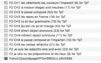 SEMESTER of French 2 PowerPoints - Bundled