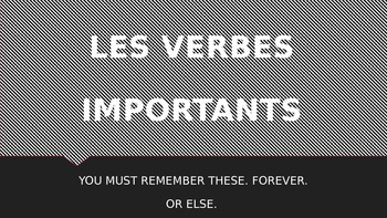 French 2 Present Tense Verb Review