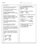 French 2 Saint Patrick's Day reading with comprehension questions
