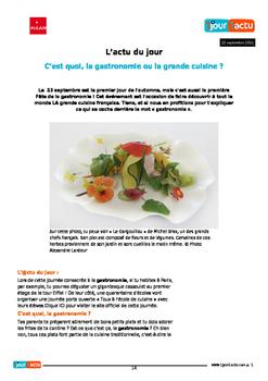 French 2 Unit 5: La Nourriture (No textbook necessary) 5 week unit