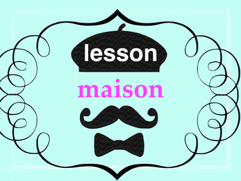 French 2 basic - 17 page PPT on HOUSE and FURNITURE vocabu
