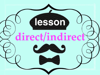 French 2 basic - 23 page PPT on DIRECT and INDIRECT OBJECT