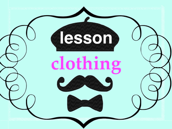 Clothing and colors - lesson