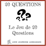 French 20 questions games - Small group or whole class no