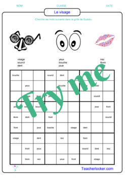 French Games - printable ready to use : 20 sudoku puzzles