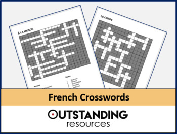 French: 23 crosswords perfect for revision, starters or plenaries