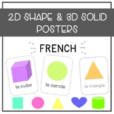 French 2D Shape and 3D Solid Posters