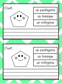 French 2D Shapes Bundle- Booklets, Vocabulary and Investigation Activities