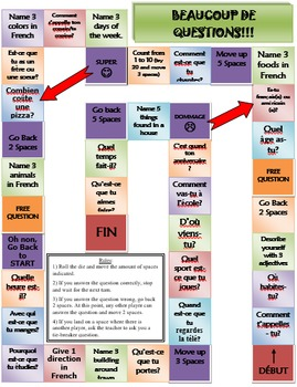 French 3-4: Speaking Activity - Perfect First Day of the Year Review Activity