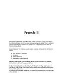 French 3 - Sample Syllabus