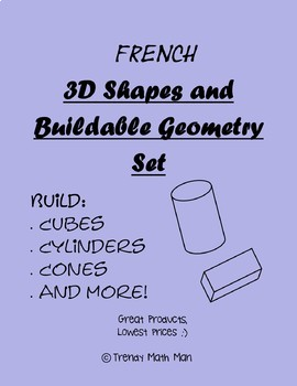 French 3D Shapes and Buildable Geometry Set