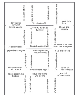 French 3x4 Places and Partitive Puzzle