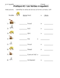 French- 4 Irregular Present Tense Practices