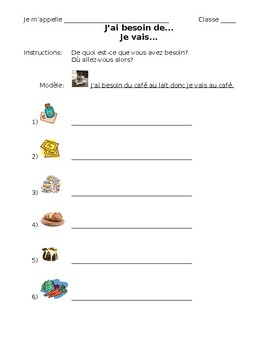 French- 4 Place, Partitive, and Verb Conjugation Practices