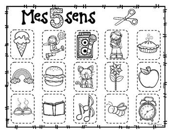 French 5 Senses Mini Unit ✽ Les cinq sens
