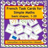 French Immersion or Core French: 54 task cards - basic num