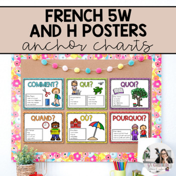 French: 5Ws and H Anchor Chart Set / Affiches de Questions