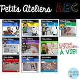 French ABC centers Growing BUNDLE/ Centres de l'alphabet (ensemble grandissant)